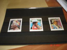 POLYNESIE FRANCAISE  ANNEE 1987  NEUFS  N° YVERT 272 A 274  SERIE COMPLETE 3 VALEURS        VISAGES POLYNESIENS - Collezioni (senza Album)