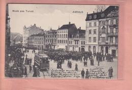 OLD POSTCARD DENMARK -      AARHUS - TRAM - ANIMATED  1900'S - Denemarken
