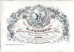 DE 688 - Carte Porcelaine Du D. Pleische, Patissier, Confiseur, Glacier Et Chocolatier Suisse, Gand, Imp. G. Jacqmain - Sin Clasificación