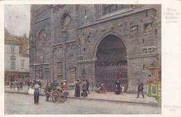 5103) WIEN - Portal Der STEFANSKIRCHE - Ernst Graner Signiert - Tolle KUNST AK - Wiener Künstler Postkarte ALT ! - Churches