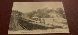 Ancienne Carte Postale - Charbonniéres Les Bains - Perspective De La Gare - Sonstige Gemeinden