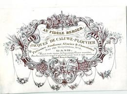 DE 690 - Carte Porcelaine Du Jacques De Caluwe-Plouvier, Patissier, Confiseur, Glacier & Chocolatier, Gand - 1900 – 1949
