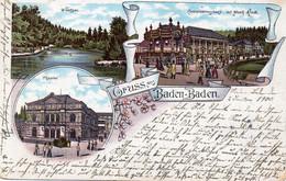 DC1764 - Ak Gruss Aus Baden-Baden Litho - Baden-Baden