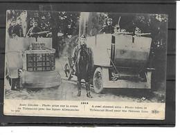 Europe-Belgique-TIRLEMONT-Guerre 1918-Une Vue Animée D'AUTO-BLINDEE Prise Sur La Route- Militaires - Autres