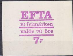 Sweden 1967 Efta Booklet ** Mnh (52031) - European Ideas