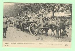 K1116  - Guerre 1914 - Troupes Indiennes De Ravitaillement - Attelage - India