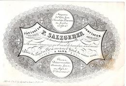 DE 695 - Carte De Commerce Du P. Salzgeber, Patissier, Confiseur, Gand, Imp. F. & L. Gyselynck - 1900 – 1949