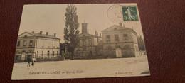 Ancienne Carte Postale - Lamarche Sur Saone - Mairie,ecoles - Sonstige Gemeinden