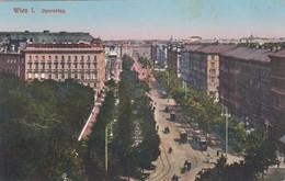 5127) WIEN - OPERNRING - Straßenbahnen  Häuser DETAILS Viele Bäume ALT 1913 - Altri