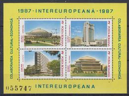 Romania 1987 Intereuropeana M/s ** Mnh (52035) - European Ideas