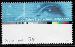 Bund 2002,Michel# 2288 ** 50 Jahre Deutsches Fernsehen - Unused Stamps