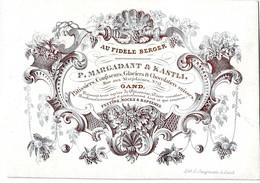 DE 698 - Carte Porcelaine Du P. Margadant & Kastli, Patissiers, Confiseurs, Glaciers & Chocolatiers Suisses, Gand, - Sin Clasificación