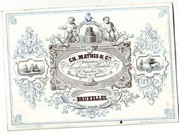 DE 699 - Carte Porcelaine Du Ch. Mathis Et Cie, Patissiers, Confiseurs, Glaciers Suisses, Bruxelles, Imp.Ve. P. De Geber - Sin Clasificación