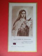 Image Pieuse Religion Catholique Reliquaire Relique Tissus Etoffe Noire Ayant Touché La Sainte Thérèse De L'Enfant Jesus - Religion & Esotérisme