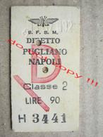 Italy / S.F.S.M. DIRETTO PUGLIANO NAPOLI Classe 2 LIRE 90 - Europe