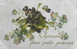 Charmantes Fleurs Parlez Pour Moi Violettes Myosotis RV - Flowers