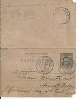 Carte Lettre à 25c - Oblit. PARIS EXPOSITION PRESSE ( 12.9.1900) - Ohne Zuordnung