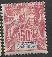 Anjouan Mh Nc * 1892 46 Euros (aminicis Minuscule Taille Aiguille, Pinhole Small Thin) - Nuovi