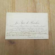 Vilvoorde Landbouwschool 1900 Professor - Visiting Cards