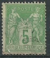 France N° 106 Obl - 1876-1898 Sage (Type II)