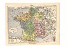 France Réseaux Des Chemins De Fer Par V.A. Malte-Brun Editeur J. Rouff De 1881? - Carte Geographique