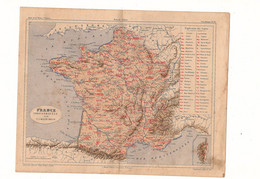 France Industrielle Par V.A. Malte-Brun Editeur J. Rouff De 1881? - Carte Geographique