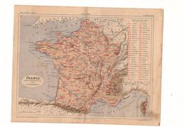 France Militaire Par V.A. Malte-Brun Editeur J. Rouff De 1881? - Carte Geographique