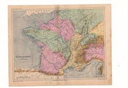 France Physique Par V.A. Malte-Brun Editeur J. Rouff De 1881? - Carte Geographique