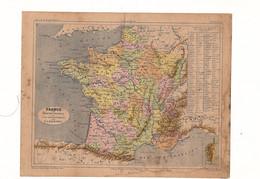 France Par Anciennes Provinces Et Par Départements Par V.A. Malte-Brun Editeur J. Rouff De 1881? - Carte Geographique