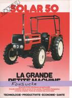 CS32 Publicité 2 Pages Tracteur Agricole SAME FRANCE Solar 50 Moissy Gramayel Tractor Trattori Traktor Brochure - Agriculture