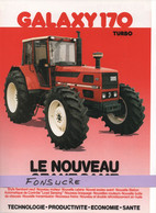 CS31 Publicité 2 Pages Tracteur Agricole SAME FRANCE Galaxy 170 Turbo Moissy Gramayel Tractor Trattori Traktor Brochure - Agriculture
