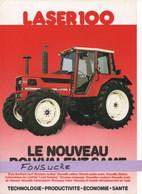 CS30 Publicité 2 Pages Tracteur Agricole SAME FRANCE Laser 100 Moissy Gramayel Tractor Trattori Traktor Brochure - Agriculture
