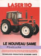 CS29 Publicité 2 Pages Tracteur Agricole SAME FRANCE Laser 110 Moissy Gramayel Tractor Trattori Traktor Brochure - Agriculture