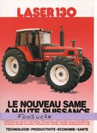 CS28 Publicité 2 Pages Tracteur Agricole SAME FRANCE Laser 130 Moissy Gramayel Tractor Trattori Traktor Brochure - Agriculture