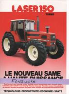 CS27 Publicité 2 Pages Tracteur Agricole SAME FRANCE Laser 150 Turbo Moissy Gramayel Tractor Trattori Traktor Brochure - Agriculture