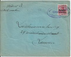Brief Met BZ 3 Verstuurd Van CORTENAEKEN - Afstempeling TIRLEMONT - [OC1/25] General Gov.