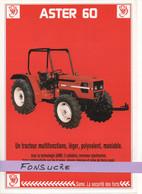 CS22 Publicité 2 Pg Tracteur Agricole SAME FRANCE Aster 60 Moissy Gramayel Tractor Trattori Traktor Brochure - Agriculture