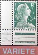 R1491/473 - 1958 - TYPE MARIANNE DE MULLER - N°1011Ad (I) NEUF** CdF - VARIETE ➤➤➤ Papier épais - 1955- Marianne Of Muller