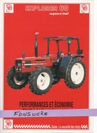 CS21 Publicité 2 Pg Tracteur Agricole SAME FRANCE Explorer 60 Spécial Moissy Gramayel Tractor Trattori Traktor Brochure - Agriculture