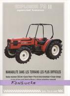 CS20 Publicité 2 Pg Tracteur Agricole SAME FRANCE Explorer 70 Spécial Moissy Gramayel Tractor Trattori Traktor Brochure - Agriculture