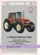 CS19 Publicité 2 Pg Tracteur Agricole SAME FRANCE Antares 110 Moissy Gramayel Tractor Trattori Traktor Brochure - Agriculture