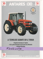 CS18 Publicité 2 Pg Tracteur Agricole SAME FRANCE Antares 130 Moissy Gramayel Tractor Trattori Traktor Brochure - Agriculture