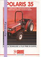 CS15 Publicité 2 Pg Tracteur Agricole SAME FRANCE Polaris 35 Moissy Gramayel Tractor Trattori Traktor Brochure - Agriculture