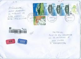 BIG COVER Bosnia And Herzegovina R - Letter Via Macedonia 2021,nice Stamps,AR Label - Bosnia And Herzegovina