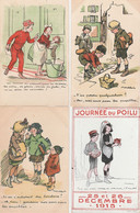 """6 CPA:"""" POULBOT """" JOURNÉE DU POILU 1915 H N° 131383,PETITS FRANÇAIS N° 64,ETC..... - Poulbot, F."""