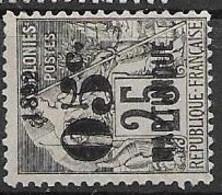 Martinique Mint No Gum, Neuf Sans Gomme, (80 Euros) 1892  Aminci De 2mm Thin - Ongebruikt