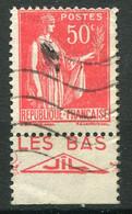 "21673 FRANCE N°283°(235) 50c. Type Paix : Les Bas""Jil""  1932  B/TB - Publicidad"