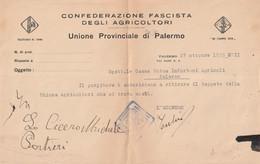 Cedola - Confederazione Fascista Degli Agricoltori - Historical Documents