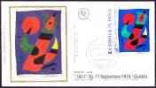 FDC / Premier Jour Sur Soie N° 1811 ARPHILA 75 - Juan Miró - 1970-1979