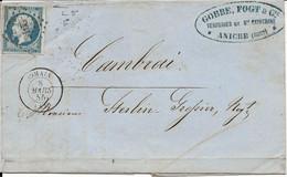 France LAC Verrerie Ste Catherine, Losange PC 2916 Somain 08/03/55 / YT 14A - 1871-1875 Ceres